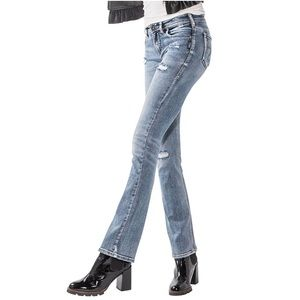 Silver Avery Slim Boot Jeans